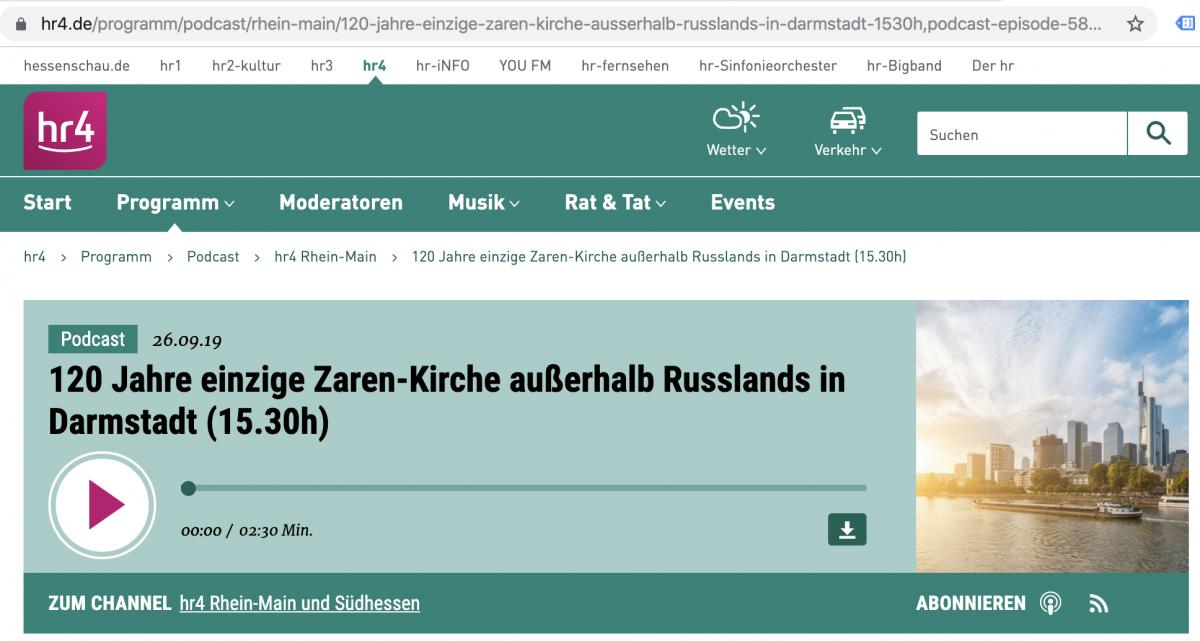 120 Jahre einzige Zaren Kirche außerhalb Russlands in Darmstadt